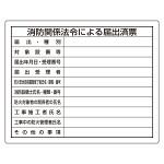 法令許可票 表記:消防関係法令による届出済票 (302-25)