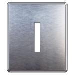 吹付け用アルファベットプレート 350×300 表示内容:I (349-23A)