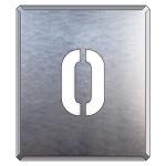 吹付け用アルファベットプレート 350×300 表示内容:O (349-29A)