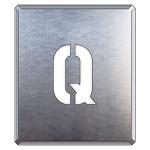 吹付け用アルファベットプレート 350×300 表示内容:Q (349-31A)