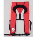 ライフジャケット 自動膨張式作業用救命衣 カラー:レッド (379-645R)