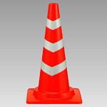 カット反射コーン 赤 (白部分反射) (385-26)