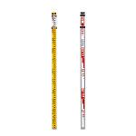 測量用品 アルミスタッフ サイズ:3m×3段 (388-56)