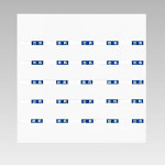 ずい道用品 入坑者一覧表セット スーパーフラット掲示板タイプ 仕様:小・25名用 (393-67)