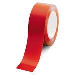 ローコスト屋内床貼テープ (セパ無) 50mm幅×33m巻 カラー:赤 (863-383A)