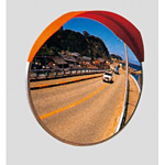 道路設置用カーブミラー ステンレス製一面鏡 ミラーのみ ミラーサイズ:φ800mm (869-10)