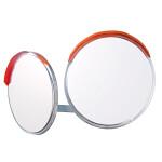道路設置用カーブミラー ステンレス製二面鏡 ミラーのみ ミラーサイズ:φ600mm (869-23)
