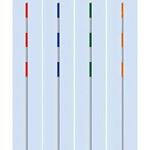 アルミスノーポール (10本1組) H2000 カラー:赤反射 (WT-116-RE)