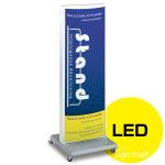 ADO-700系LED式電飾スタンド看板 ADO-700-2-LED カラー:シルバー (ADO-700-2-LED-S)