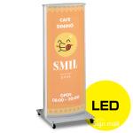 LED式電飾スタンド看板 ADO-810-2-LED カラー:シルバー (ADO-810-2-LED-S)