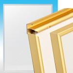 前開き式アルミ製ポスターフレーム ラクパネ A4 ゴールド