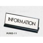 表示プレートH 卓上サイン 表示・仕様:INFORMATION・L型片面(PL902-11) (22334***)