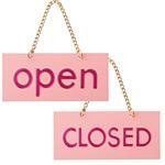 表示プレートH ドアサイン OPEN⇔CLOSED 色:ピンク (FJ221-1) (EFJ221-1)