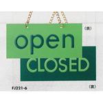 表示プレートH ドアサイン OPEN⇔CLOSED 色:グリーン (FJ221-6) (EFJ221-6)