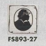 表示プレートH トイレ表示 ステンレス イラストシルエット 80mm角 表示:男性用 (FS893-27)