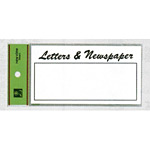 表示プレートH 郵便受表示 80×150mm 表示:LETTERS&Newspaper (HB159-3)