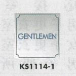 表示プレートH トイレ表示 ステンレス鏡面 110mm角 表示:GENTLEMEN (KS1114-1)