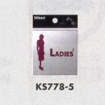 表示プレートH ピクトサイン トイレ表示 ステンレス鏡面 表示:LADIES (女性) (KS778-5)