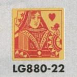 表示プレートH トイレ表示 真鍮金メッキ イラストトランプ 80mm角 表示:女性用 (LG880-22)