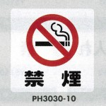 表示プレートH ポリプロピレン300×300 表示:禁煙 (PH3030-10)