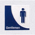 表示プレートH トイレ表示 陶磁器製 人型マーク 表示:男子 (SCP-7)