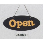 表示プレートH ドアサイン 片面Open 仕様・カラー:楕円型・イエロー (UA3020-1)