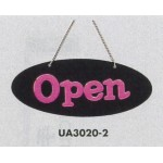 表示プレートH ドアサイン 片面Open 仕様・カラー:楕円型・ピンク (UA3020-2)