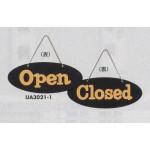 表示プレートH ドアサイン 両面Open⇔Closed 仕様・カラー:楕円型・イエロー (UA3021-1)