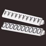ニュープライスキューブ補充用単品 L用 (白/黒文字) 1袋20粒入 種別:0 (07105BK0)