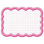 抜型カード四角 立体 大  ピンク (16-4196*)