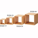 木製ディスプレーボックス 20cm角 ナチュラル (51824-2*)