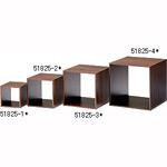 木製ディスプレーボックス 20cm角 ブラウン (51825-2*)
