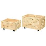 木製ボックス キャスター付 小 (40168***)
