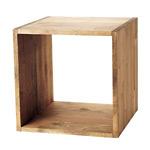 木製サイコロボックス ブラウン色 25cm角 (40170BRN)