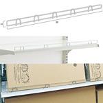 スチール什器 柵用ワイヤーストッパーW1200 H15 (55020-1*)