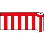 ビニール紅白幕 ロール75 (53229-3*)