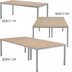 OAミーティングテーブル W1800 木目 (52411-1*)