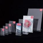 アクリルL型カード立て サイズ:B7(写真L) (55300***)