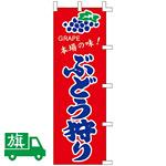のぼり旗 ぶどう狩り (K001031044)