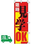 のぼり旗 見学OK W550×H1750 (K001066019)