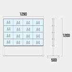 カードケースメッセージスタンド ハイタイプ 仕様:A4横32 両面 (CCMS-A4Y32RH)