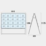 不動産向けカードケースA型看板 ハイタイプ 仕様:A4横40 両面 (CCSK-A4Y40RH)