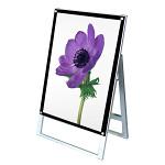 ポスター用スタンド看板 マグネジ A1 シルバー/ブラック 片面 (PSSKMN-A1KB)