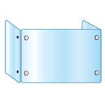 3面・コの字型アクリルパーテーション (飛沫感染プロテクションガード)  3面 600×900×300 (APT3F600X900X300)