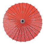 踊り傘 桜 赤 (000555d)