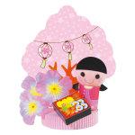 お花見お弁当POP (10724)