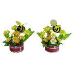 菜の花ミツバチポット2個セット (12164)