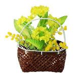 手さげ篭アレンジ菜の花 (10161)