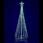 グリーン&ホワイトLEDスノーフォールタワーツリー180cm (046855)