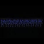 LEDケサランスターカーテンライトブルー&ホワイト (044602)